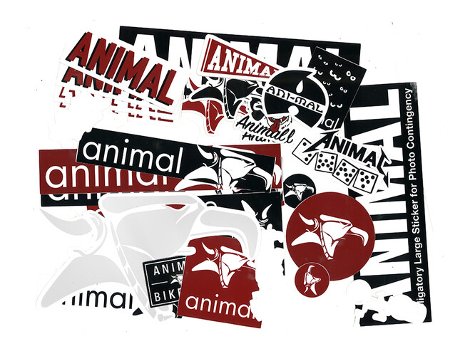 ANIMAL Sticker Pack - BMX-Shop PARANO-GARAGE - first class ...