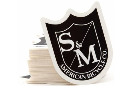 S&M Medium Shield Sticker Black