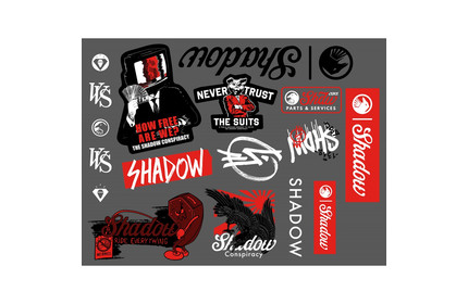 2020 SHADOW ASSORTED STICKERS DECAL BMX BICYCLE STICKER DECALS PACK KIT